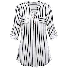 New <b>Women's</b> Striped <b>Cotton Blouses</b>: Amazon.com