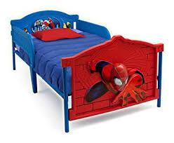 Delta Children Plastic <b>3D</b>-Footboard Twin Bed, <b>Marvel Spider</b>-<b>Man</b>