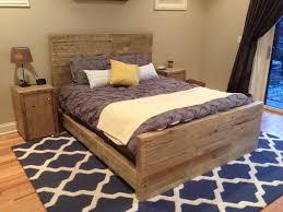 rustic light gray wooden queen bedroom endearing rod iron
