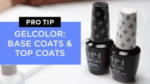 <b>OPI GelColor Base</b> Coat and Top Coats - YouTube