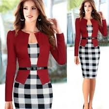 Buy <b>Fashion</b> Refined Women <b>Office Dress</b> Plus Size Faux Jacket ...