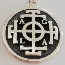 John Dee's AGLA Sigil <b>Wheel of Fortune</b> 3D Pendant Sterling Silver ...