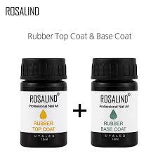 Гель-лак для ногтей ROSALIND, 1 шт., <b>базовое верхнее</b>...