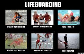 Lifeguarding | Lifeguarding What my mom thinks I do what my ... via Relatably.com