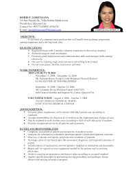 sample nurse resume for abroad online resume format sample nurse resume for abroad overseas nurse resume sample nursing resumes livecareer sample nurse resume filipino