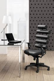 awesome modern office chairs in dark design with bright lamp shade on glass desk for ergonomic workstation bright modern office space