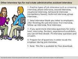 free pdf download 11 other interview tips for real estate administrative assistant administrative assistant
