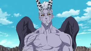 grey red demon hendrickson after he has gained the power of the legendary red demon a
