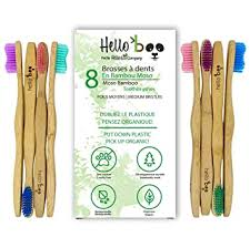 Bamboo Toothbrush for Adults and Teenagers | 8 ... - Amazon.com