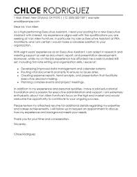 Cover Letter Examples For Executive Assistant  cover letter for an     Timmins Martelle