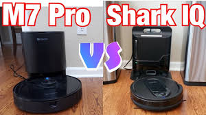 Self Emptying Bin Battle!!! Shark IQ VS <b>Proscenic M7 Pro</b> - YouTube
