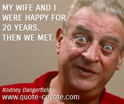 Rodney Dangerfield quotes - Quote Coyote via Relatably.com