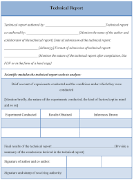 word technical report template template word technical report template