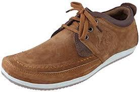 Marshal <b>Men's</b> Tan Chikoo <b>Genuine</b> Leather Big Size <b>Casual Shoes</b> ...