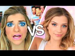 05 54 high you vs child you makeup routine