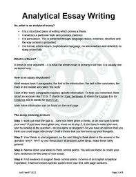 how to develop and write an analytic essay of how to write an analytical essay was reviewed by on june