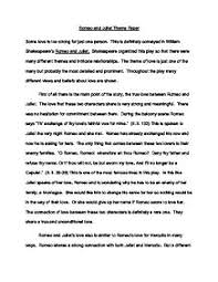 theme essay romeo and juliet theme paper   gcse english   marked by teacherscom page