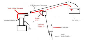 wiring diagram for old western plowsite missing the jumper wire