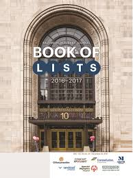 book of lists baltimore business journal book of lists