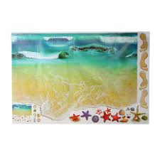 Maijiabao <b>3D</b> Sea Starfish <b>Beach</b> Floor Wall Sticker Vinyl Art Mural ...