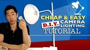 cheap and easy diy camera lighting tutorial youtube cheap diy lighting