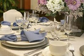 images fancy party ideas: simple white place setting with three wine glasses and a coffee cup on a eyelet lace