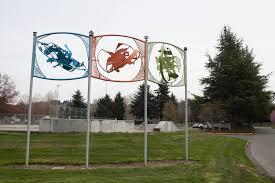 culture archives crosscut public art depicting skateboard moves at brannan park auburn s big outdoor sports complex