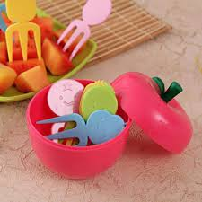 <b>Apple Shaped 10 Pcs</b>. Fork Set for Kids Container: Gift/Send Home ...