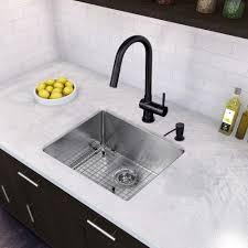 size kitchen double undermount