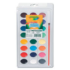 Crayola Washable <b>Watercolors 24</b> Count With <b>Paint</b> Brush - Walmart ...