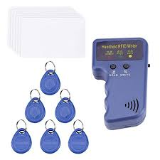 Handheld <b>125KHz RFID</b> Card Copier Writer Duplicator Programmer ...