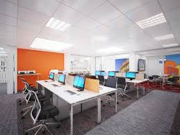 Render Cgi Visualisation 3d Office Open Plan London 02  Rendering Office  O