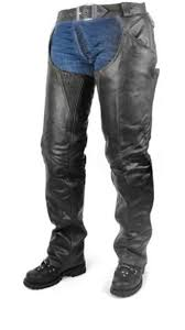 Heavy duty <b>Genuine</b> leather chaps, Black – Amish Country Leather