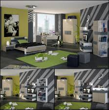 green black mesmerizing:  bedroom large size mesmerizing teenage boys room designs with gray bed along black blanket also