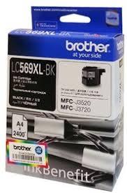 <b>Картридж</b> струйный <b>Brother LC569XLBK</b> черный (2400стр.) для ...