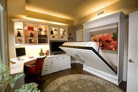 multipurpose bed siena collection white home office with wall bed by valet custom cabinets clos bed for office