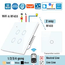 <b>WiFi RF433</b> Smart Touch Switch 2 Way <b>RF433 Wall</b> Panel ...