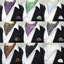 LJT01 23 Factory Mens <b>Paisley Necktie</b> Cravat <b>Tie</b> Handkerchief Set ...