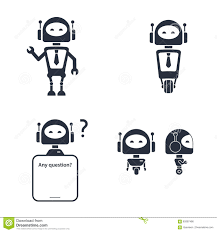 tech robot online customer service icon stock vector image  tech robot online customer service icon