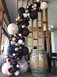 <b>Burgundy</b>, <b>navy</b> and rose gold balloon garland Stylish Soirees Perth ...