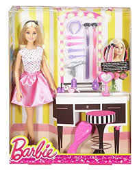 Buy Barbie Doll & Playset with Hair Styling Accessories, Multi Color ...