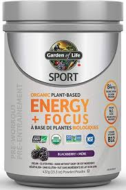 Garden Of Life <b>Sport Organic Plant Based Energy</b> + Focus 432.0 ...