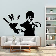 Модные виниловые наклейки на стену с <b>кунг</b>-фу Брюсом Ли ...