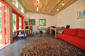 red shag rug home office contemporary with art studio clerestory windows garage guest house guest studio black shag rug home office