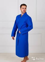 <b>Халат вафельный</b> мужской синий размер <b>54-56</b> купить в ...