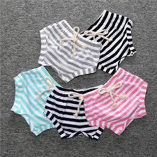 INS <b>baby girl clothes</b> summer <b>triangle</b> mini shorts Briefs striped waist