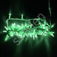 Светодиодная <b>гирлянда Нить 10 м</b> зеленая 24V уличная