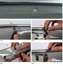 <b>Дефлекторы окон</b> с хром молдингои и доп крепежом <b>NOBLE</b> для ...