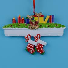 <b>Mantel Stockings Family</b> Of 2 Polyresin Christmas <b>Personalized</b> ...