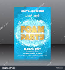 foam party flyer template invitation on stock vector  foam party flyer template of invitation on a foam party vector template for your